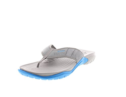 Crocs Men's Swiftwaterflipm Flip Flops, Graphite/Black, 11 UK