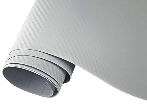 Neoxxim 4€/m² Auto Folie Carbon Folie 3D Carbonfolie Weiss - 200 x 150 cm blasenfrei Klebefolie Dekor