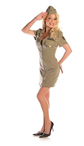 Sexy Fly Girl Military Fancy dress costume -