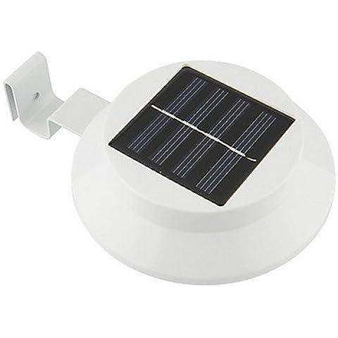 3 LED Solar Energy Saving giardino Cortile Recinto Muro Pathway luce lampada esterna