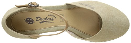 Dockers by Gerli 36is201-706460, Sandales Bout Ouvert Femme Beige (desert)