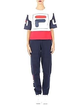 Fila Mujer 682398I17 Blanco/Rojo Algodon T-Shirt