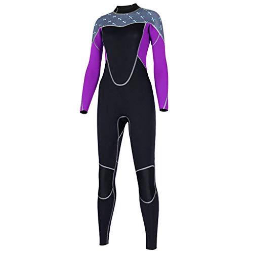 LOPILY Damen Schnorchelanzug Tauchanzug Sonnencreme UV Schutz Surfbekleidung Wetsuit Schlankheits Schnelltrocknend Wassersport Anzug Neoprenanzug Surfanzug(Lila,L)
