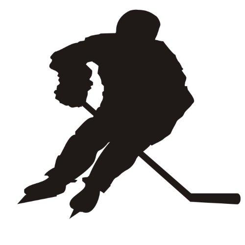 das-label Eishockey Autoaufkleber Sportaufkleber schwarz