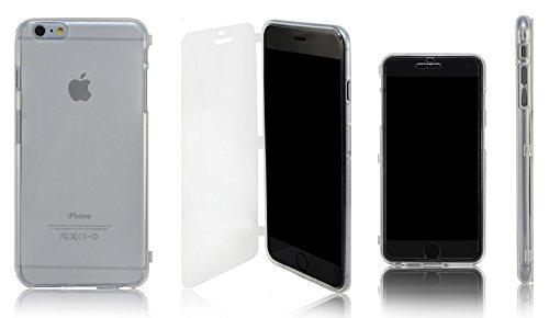 Xcessor Flip Open TU Gel Case Tasche Schutzhülle Für Apple iPhone 6 Plus. Vorder-und Rückseite Schutz. Transparent Transparent