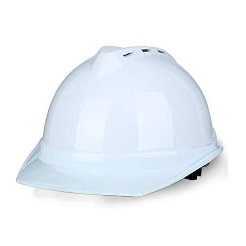 """BYAQM Verstellbarer Bauhelm Mit""""Keep Cool"""" -Lüftern - Persönliche Schutzausrüstung, Hochfester Schutzhelm Mit Helm - Mehrere Farben (Farbe : Weiß)"""