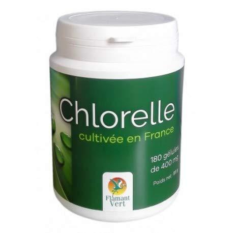 Flamant Vert Chlorelle 180 Gélules de 400 mg