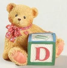Cherished Teddies Bear With D Block 158488D by Enesco -