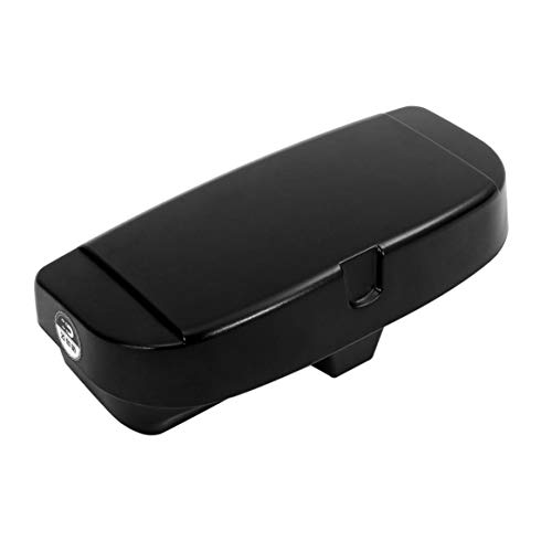 Delicacydex Auto Brillen Aufbewahrungsbox Sonnenbrillen Tragetasche Hartschalenkoffer Schutzbox Universal Schützen Box Halter Brillen Zubehör - Schwarz