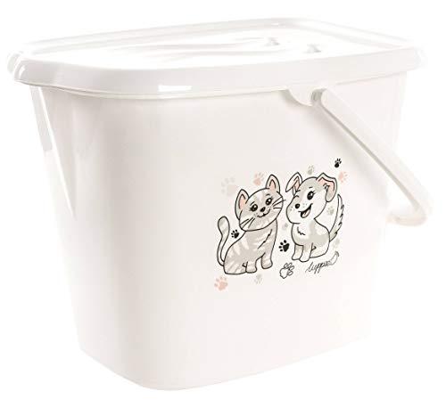 LUPPEE Eimer für Wasser und Windeln 22L mit Deckel und Tragegriff, Hund und Katze (Eimer Windeln)