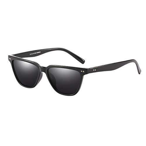 Igemy Retro Großer Rahmen UV400 Mode Brillen Quadratische Nagel Sonnenbrille Damen Herren (C)