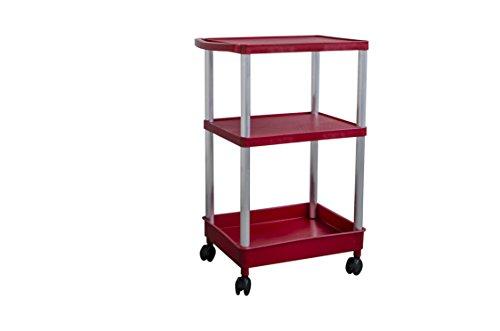 Transportwagen - Werkstattwagen - Rollwagen - bis 250 kg belastbar !! Version in Farbe Rot und Flach - Flach - Tief