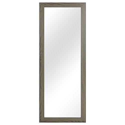 Garderobenspiegel Wandspiegel Frisierspiegel Flurspiegel Barspiegel 36,5x96,5cm - Braun