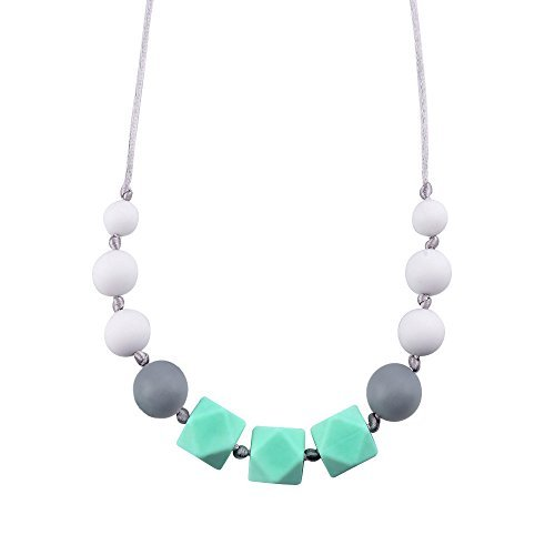 Blulu Baby Silicone Teething Necklace for Mom to Wear