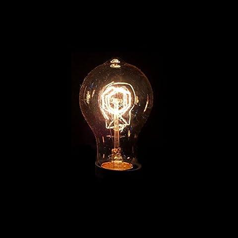 Lampada corda cordoncino lampada da soffitto con Edison 40W Incandescenza ideale per Vintage, anticato, stile retrò di rugiada o nostalgia stile Design Fiocchi Filament illuminazione industriale E27decorativa, E27 40 wattsW 220 voltsV