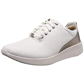 Clarks Damen Un Alfresco Lo Derbys, Weiß (White Leather), 41.5 EU