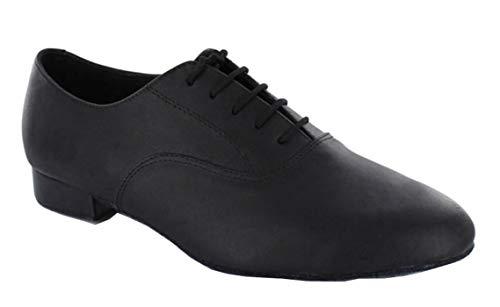 Minitoo Herren jf250501Leder Ballsaal Latin Dance Schuhe, Schwarz - Leather-Black - Größe: 41