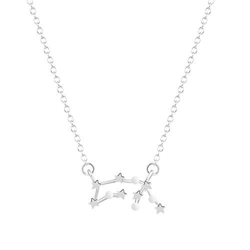 Sternzeichen Halskette Wassermann Horoskop Schmuck Astrologie Konstellation Halskette Farbe Silber Farbe Astrologie