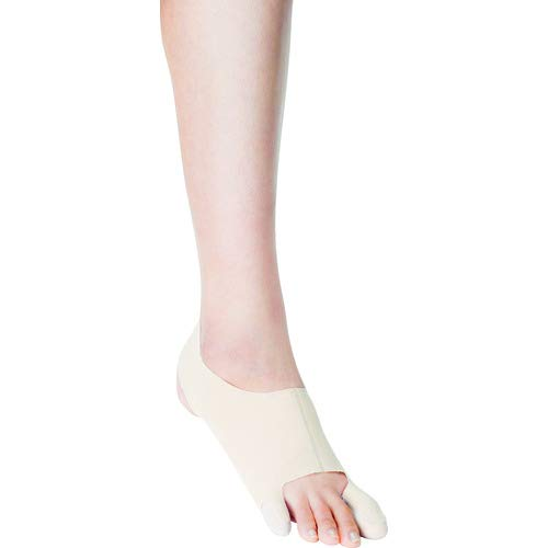 Cinderella 2 in 1 NON-Surgical bunion and Tailor`s bunion corrective sleeve left, Size L by made by bonbone