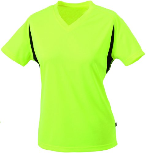 Gelb L/s Shirt (Ladies' Running-T Shirt/James & Nicholson (JN 316) S M L XL XXL gelb/fluo,M)