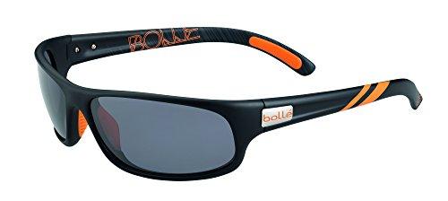 Bollé Anaconda Sonnenbrille, Dunkles Tortoise, Größen: M bis L, Unisex - Erwachsene, Anaconda, Matte Black/Arancione