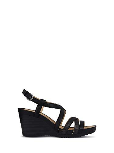 Zapatos Mujer Sandalias GEOX D New Rorie B Cuero Negro