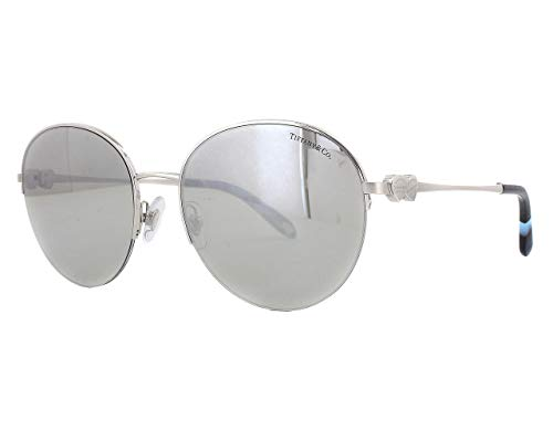 Tiffany & Co. Damen 0TY3053 61086V 56 Sonnenbrille, Silber (Silver/Lightgreymirrorsilver)