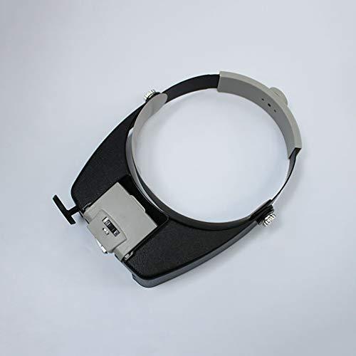 Eletam Bewegliche Berufsstirnband-Lupen Brillen Loupe LED Light Helmet Vergrößerungsglas-Glas für Reparatur Bijouterie