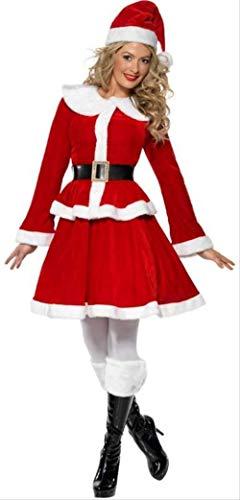 Plus Size Frau Claus Outfit - DDDWWW Weihnachtsfrauen Frau Weihnachtsmann Kostüme Herren