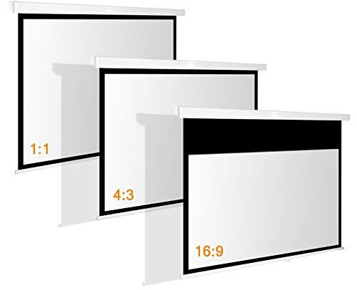 Beamer Rolloleinwand Slender Line 220 x 124 cm – Format 16:9 – Rollo Leinwand - 3