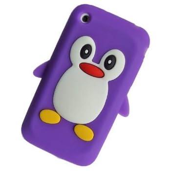 Tinkerbell Trinkets® Violet Mignon Pingouin Manchot Etui Coque Housse Pour iPhone 3GS / 3G