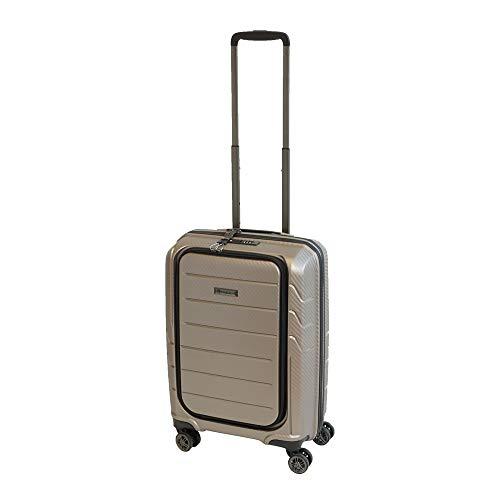 Franky Spinner Größe S 55 cm Handgepäck Koffer, Zahlenschloss Zoll, Gold Extra Leichtes Polypropylen Prosecco Metallic