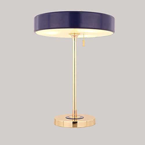 Xiao Yun ☞ * Hohe Qualität Nordic Britische Moderne Rangers Hardware Tischlampen Designer Modell Zimmer Ausstellungshalle Schreibtischlampe Wohnzimmer Nachttischlampe Höhe: 44 cm (Farbe: Blau) ☜