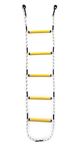 Aoneky Escalera de Cuerda para Niños y Adultos Escalera Colgantes Columpios Infantiles Juguetes Deportivos para Jardín, Casa del Árbol, Parques Infantiles Exteriores / Interiores (1.8 m)