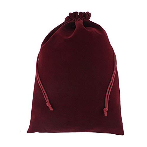 Haodou Cordón Bolsas Rojo Oscuro Terciopelo Bolsa