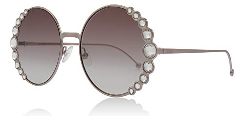 Fendi Sonnenbrillen Ribbons & Crystals FF 0324/S PINK/PINK Shaded Damenbrillen (Sonnenbrille Ribbon Pink)