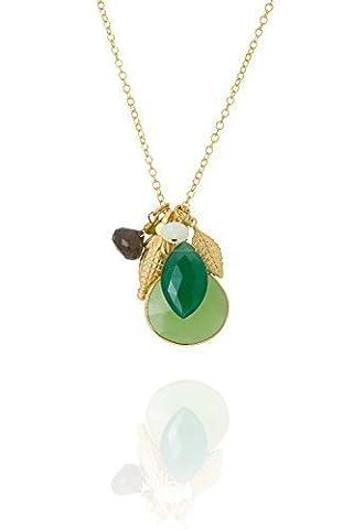 Aubrey-charms-david pendentif onyx vert quartz fumé)