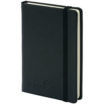 Silvine Executive Soft Feel Pocket Notebook Ruled with Marker Ribbon 160pp 90gsm 143x90mm Black 196BK