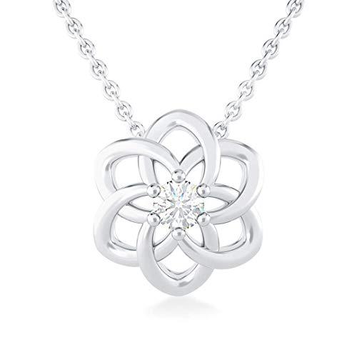 Collana girandolina in oro bianco e diamante