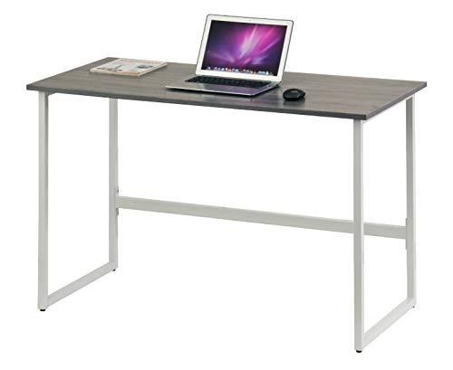 hjh OFFICE 674270 Schreibtisch WORKSPACE Light Grau/Weiß schmaler Computertisch mit Stahl-Gestell 120 x 60 cm