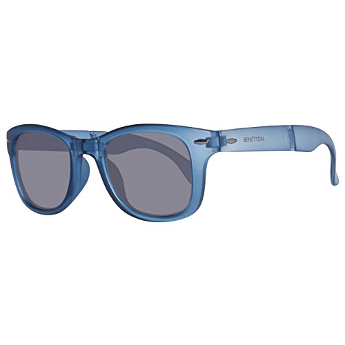 United Colors of Benetton Unisex-Erwachsene BE987S02 Sonnenbrille, Blau (Blue), 51