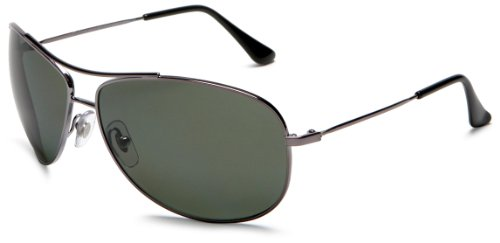 Ray-Ban RB3293 Gunmetal/Polar Green Polarized Sunglasses (RB3293-004-9A-63-13-125)