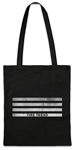 Urban Backwoods Tire Tread Bars Hipster Bag Beutel Stofftasche Einkaufstasche