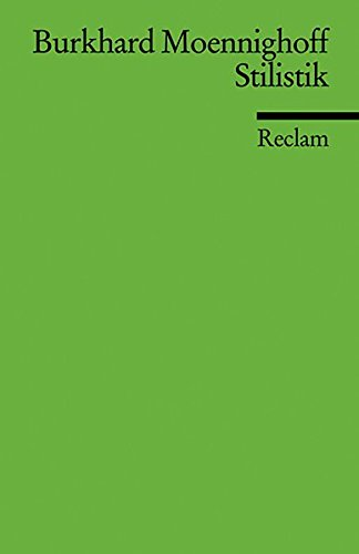 Stilistik (Reclams Universal-Bibliothek)