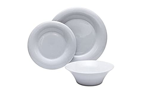 The Plate Co. Porcelain Pearl Dining Set, White (18 Piece)