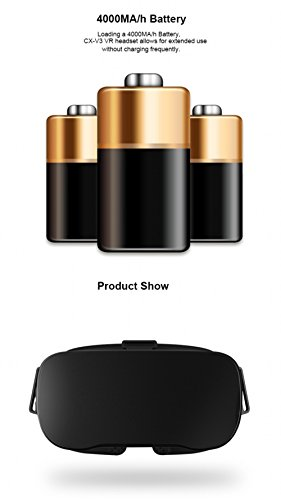 MeeGOPad V01 Mobile All in One VR (1080P 3D Virtual Reality Headset,Nibiru Based on Andriod 4.4 ,Allwinner H8 Octa-Core Cortex-A7 Processor ,2GB RAM,16GB EMMC Rom,Support Wifi Bluetooth TF Audio Switch)-Black - 3