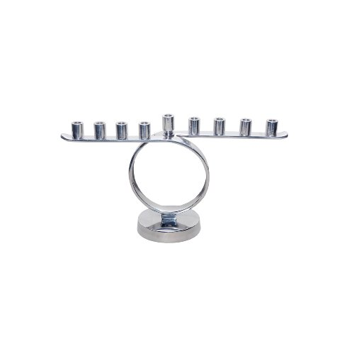 Insideretail 501220 Menora Kreis, poliertes aluminium, 30 x 9 x 17cm
