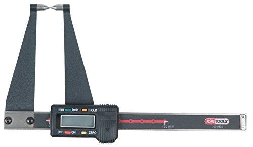 KS Tools 300.0539 Digital-Bremsscheiben-Prüflehre LKW, 0-100mm