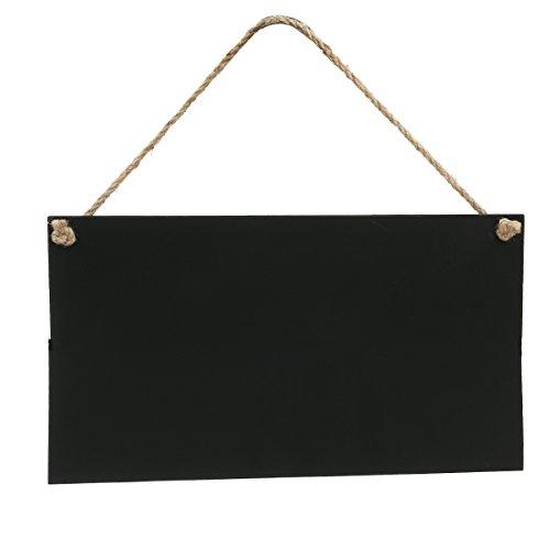 ROSENICE Klein Kreidetafel Memotafel Tafel zum Aufhängen für Dekoration 26 x 14cm (Menü-ordner Für Restaurants)