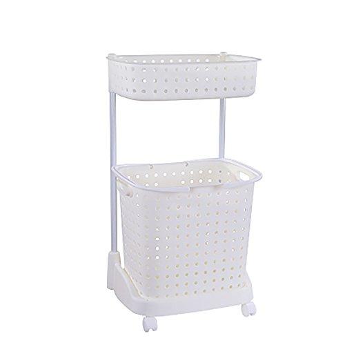 Große tragbare Wäschekorb Kleidung Sortierer Wäschekorb Aufbewahrungsbox kann für Kleideraufbewahrung Körbe Kleidung Haus und Bad verwendet werden Weiß